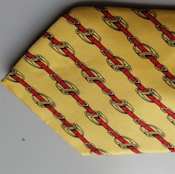 Hermes Other - HERMES Belt Buckle Print over Yellow Background